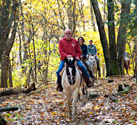 Fall Horseback Riding in Shenandoah National Park