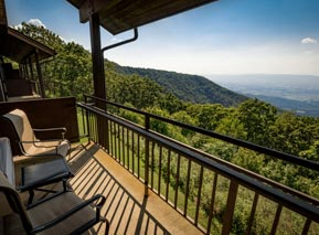 View From Room Balcony at Skyland in Shenandoah National Park
