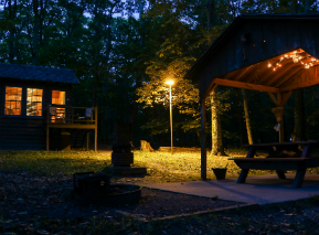 Evening at Lewis Mountain Cabins in Shenandoah National Park