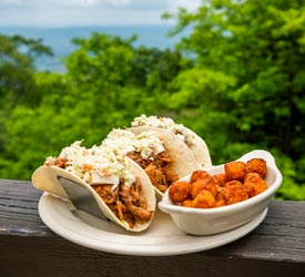 Pulled Pork Tacos at Skyland in Shenandoah National Park