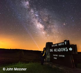 Milky Way at Big Meadows in Shenandoah National Park