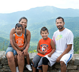 Family in Shenandoah National Park