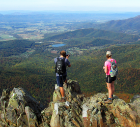 Hikers Atop Stony Man - Shenandoah National Park