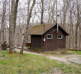 Hiker's Cabin at Lewis Mountain Cabins in Shenandoah National Park