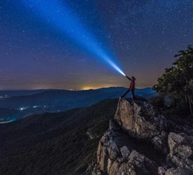 Little Stony Man Night Sky - Shenandoah National Park