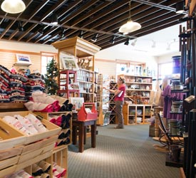 Shopper at Skyland Gift Shop in Shenandoah National Park