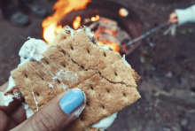 S'more Over Campfire