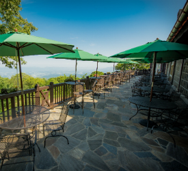 Terrace Seating at Big Meadows Lodge in Shenandoah National Park