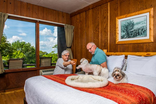 Pet Friendly Room at Big Meadows Lodge in Shenandoah National Park