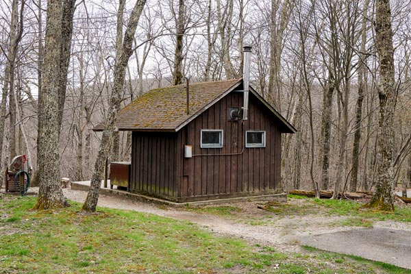 Hiker Cabin at Lewis Mountain Cabins in Shenandoah National Park
