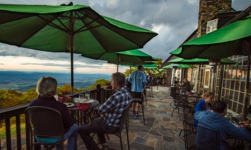 Big Meadows Lodge Terrace Dining - Shenandoah National Park