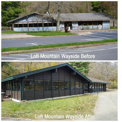 Loft Mountain Wayside Renovations - Shenandoah National Park