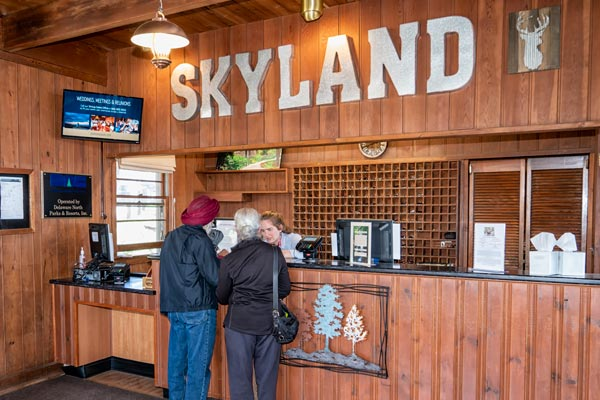 Registration Office at Skyland in Shenandoah National Park