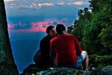 Couple in Shenandoah National Park